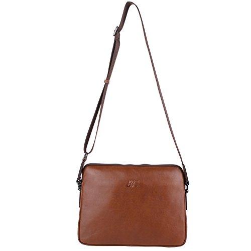Banuce Small Vintage Leather Menssenger Bag for Men Shoulder Crossbody Bag Brown by Banuce (Image #4)