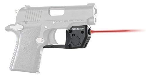 ArmaLaser Colt Mustang XSP 380 TR17 Super-Bright Red Laser Sight with Grip Activation