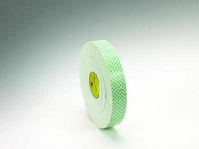 3M 4016 Acrylic Double Coated Open-Cell Urethane Foam Adhesive Tape with Paper Liner, 380 Degree F Performance Temperature, 1/16