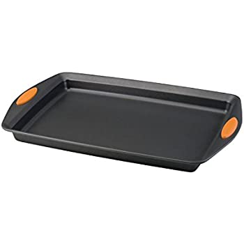 "Rachael Ray Oven Lovin' Non-Stick 11"" x 17"" Crispy Cookie Baking Sheet, Orange"