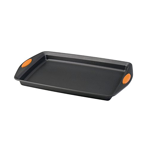 Rachael Ray Oven Lovin' Non-Stick 11″ x 17″ Crispy Cookie Baking Sheet, Orange
