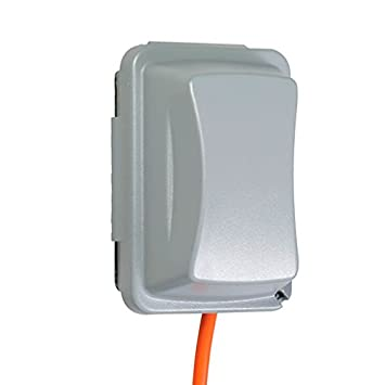 2-3//4 Inches Deep TayMac MM410W Weatherproof Single Outlet Cover Outdoor Receptacle Protector White