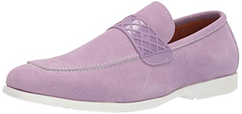 STACY ADAMS Men's Crispin Moc-Toe Slip-On Loafer, Lavender 13 M US