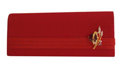 Satin Damen Handtasche Abendtasche-Partytasche Rot