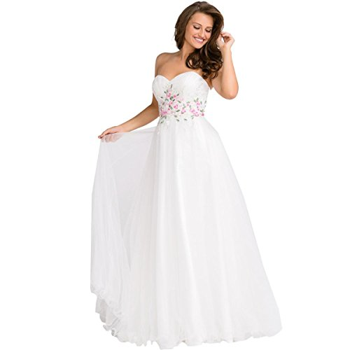 JVN by Jovani Womens Plus Rhinestone Strapless Formal Dress White 20 by JVN by Jovani