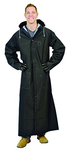 Galeton 12560-XXL-BK  Repel Rainwear 0.35 mm PVC 60'' Raincoat for More Coverage, 2XL, Black by Galeton