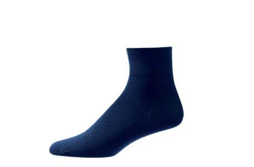 Aetrex Copper Dress - Aetrex Copper Sole Dress Socks - Women's Ankle NAVY - LARGE