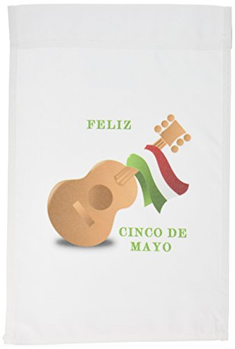 3dRose fl_100848_1 Cinco De Mayo Symbols with Message Garden Flag, 12 by 18-Inch Review
