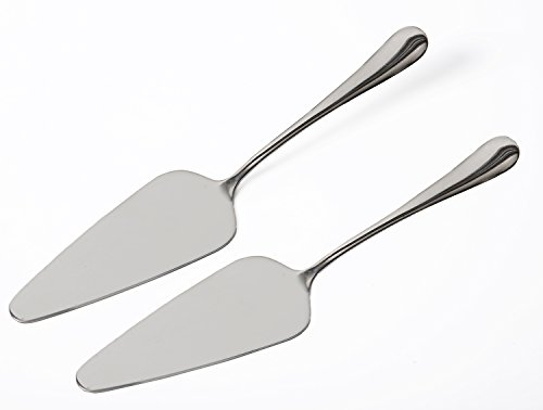 KSENDALO Set of TWO(2) -Stainless Pie Cake Server, Server for Pie, Cake, 18/10 Gauge Mirror Finish (Stainless Server Steel Pie)