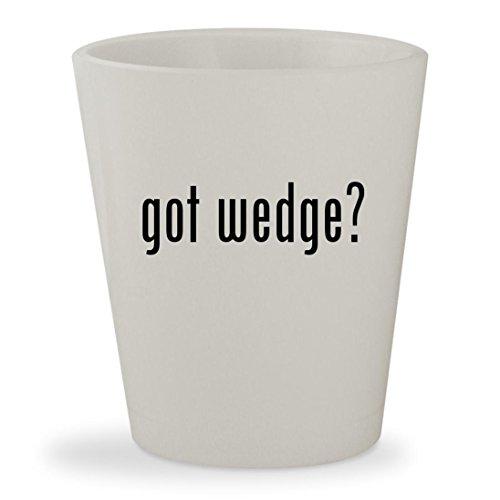 Stuart Weitzman Black Croc (got wedge? - White Ceramic 1.5oz Shot Glass)