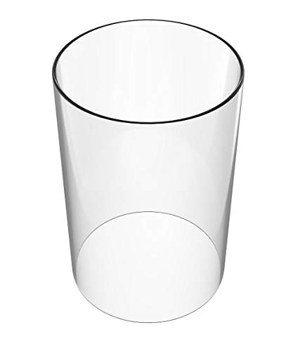 (Glass Vase Cylinder - Lamp Shades Replacement Open End-Diameter is 4