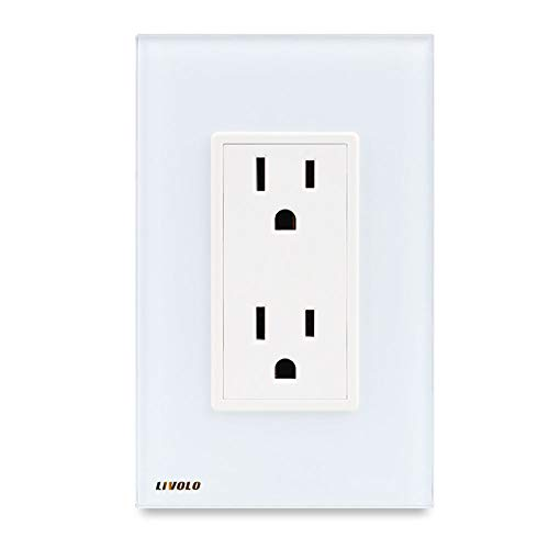 LIVOLO White US Standard Vertical Duplex Receptacle Electric