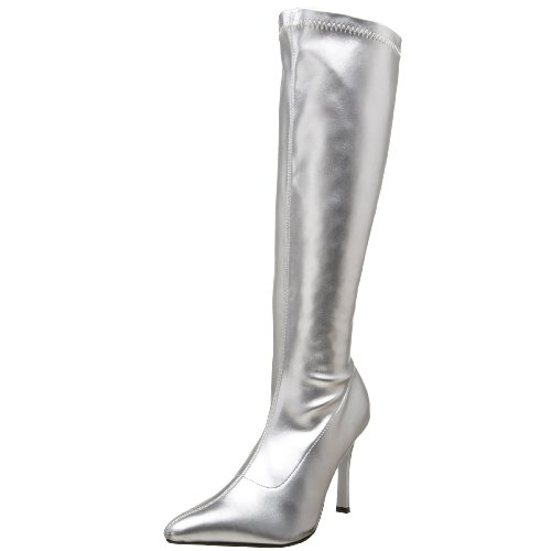 Funtasma by Pleaser Women's Lust-2000 Boot,Silver Str,8 (Silver Costume Boots)