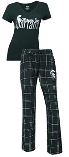 Michigan State Spartans NCAA Women's Shirt and Pajama Pants Sleep Set XL 16-18