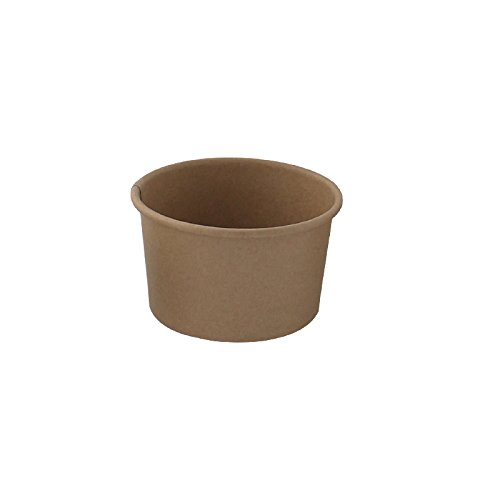 PacknWood Kraft Paper To-Go Bucket Container , 5 oz. Capacity, Brown  (Case of 1000) by PacknWood