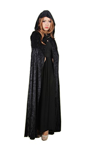 LifeWheel Halloween Grim Reaper Cloak Hooded Wizard Witch Robe Cosplay -