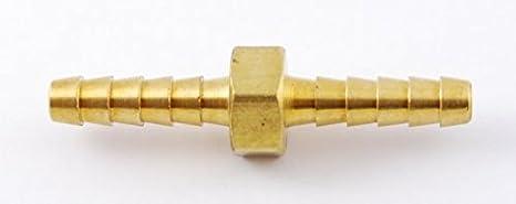 MettleAir 129-3 3//16 ID Hose Barb Mender//Splicer//Joiner//Union Fitting Brass Tubing Hose Adapter//Coupler 129-3-10PK Pack of 10