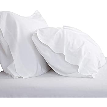 Bedsure Cooling Bamboo Pillowcases Set of 2 - White Breathable Cool Ultra Soft Pillow Cases - Viscose from Bamboo - Organic Natural Silky Material, Moisture Wicking(White, Queen Size 20x30 inches)