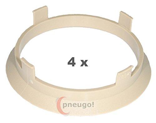 4 x Zentrierringe Kunststoff 60.1mm auf 56.1mm naturbeige