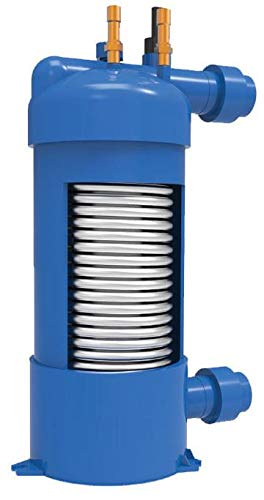 Titanium 50'000 BTU, 100'000 BTU, 180'000 BTU Water to Water Heat Exchanger for Heating and Cooling (50'000 BTU)