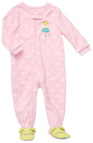 Footed Sleeper Girls Frog (Carter's Toddler Footed Fleece Sleeper - Cheery Frog-4T)