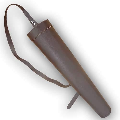 キャロル伝統的アーチェリー矢印レザーバックQuiver bfaq8316 a-fブラウン17