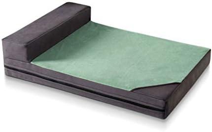 ペットベット ペットネスト非粘着性の四季節リムーバブルと洗濯可能なミディアムドッグスモールドッグケンネル暖かいペットマットレステディボメイビーシオンゲケジ ベッド・ソファ SHANCL (Color : Green, Size : M:72*50cm)