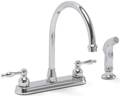 (Premier Faucet 119261 Premier Wellington Lead-Free Two-Handle Kitchen Faucet with Matching Side Spray, Chrome)