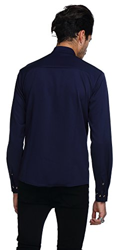 Whatlees Mens Long Sleeve Extra Long Embroidery Design