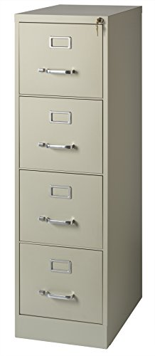 Office Dimensions Commercial 4 Drawer Letter Width Vertical File, 22-Inch Deep, Putty