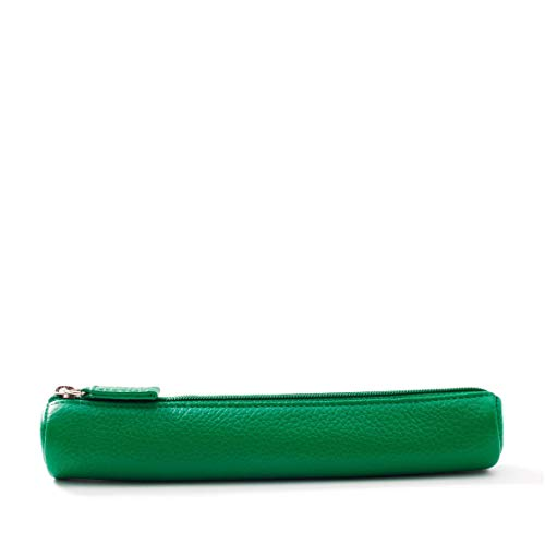 Small Pencil Case - Full Grain Leather - Kelly Green (green)