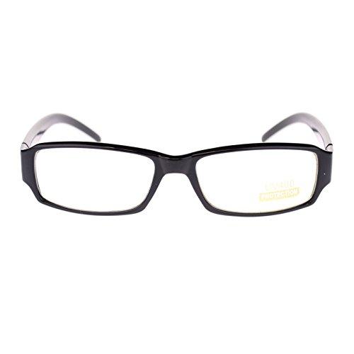 Unisex Small Face Classic Retro Narrow Rectangular Clear Lens Eye Glasses - Eyeglasses Face For Rectangular
