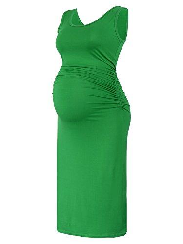 BlackCherry Women's Sleeveless Modal Maternity Knee Length T