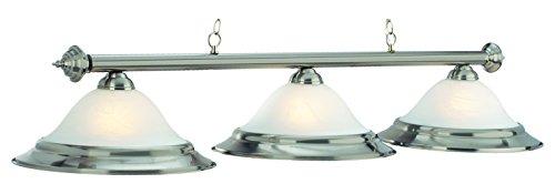60In. 3 Lt Billiard Light-Stainless