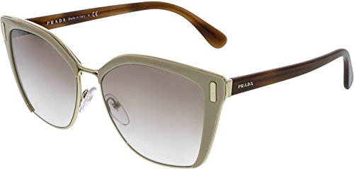 Prada Women's 0PR 56TS Light Brown/Gradient Brown Silver Mirror ()