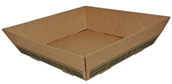 "Southern Champion Tray 0181 FiberPac(TM) Corrugated Tapered Catering Tray, 12"" Length x 12"" Width x 3-3/4"" Height, Fits Item 0180 (top) (Case of 50)"