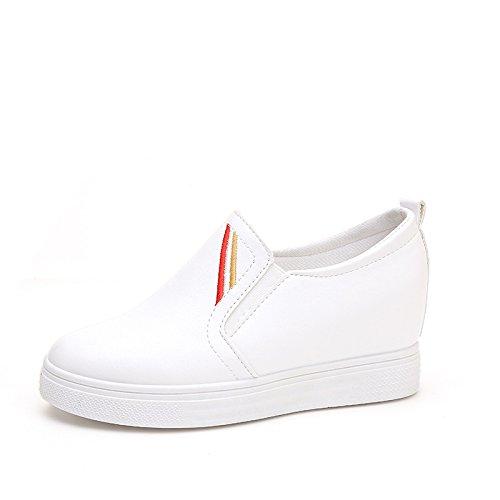 40 Blanc épaisses Chaussures Paresse de Étape Un Chaussures de Pied Croissante qwzCOzxv
