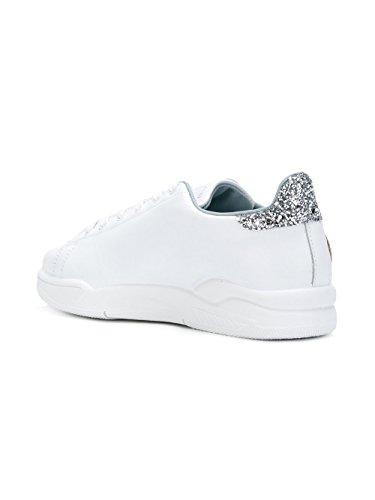 Chiara Ferragni Damen CF1915 Weiss Leder Sneakers