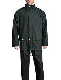 Rain Suits for Men Heavy Duty Workwear Waterproof Jacket with Pants 3 Pcs