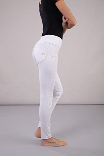 WR.UP® Long, Coupe Skinny et Taille Moyenne en Coton élastique - Blanc - Medium