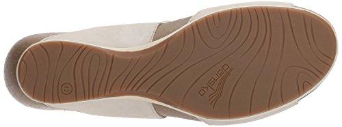 Dansko Damen Wien Slide Sandale Oyster Milled Nubuk