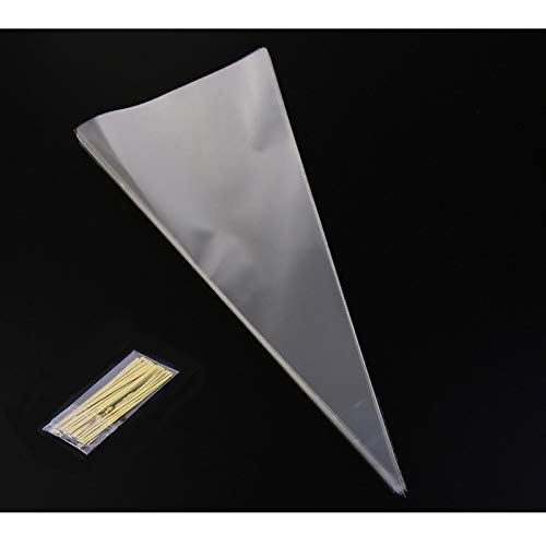 Cone Cellophane Bags Clear Triangle Treat DIY Gift Bags for Candies Sweets Cookies Snakes TiooDre 50Pcs Triangle Transparent Candy Bag
