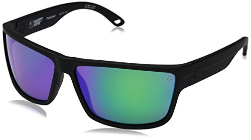 Spy Optic Rocky Polarized Rectangular Sunglasses, Soft Matte Black/Happy Bronze Polar/Green Spectra, 1.5 - Dna Polarized Sunglasses