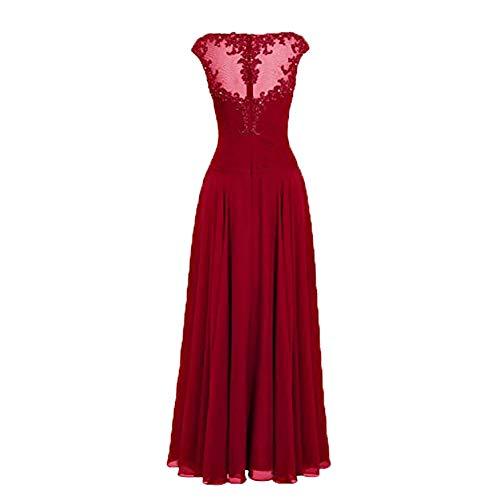 Brautmutterkleider Partykleider Kleider Einfach A Damen Festlichkleider Abendkleider Linie Charmant Dunkel Chiffon Gruen Standsamt xwI8qvvY