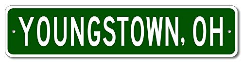 Youngstown, Ohio - USA City and State Street Sign - Aluminum 4