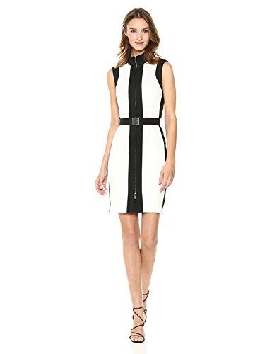 Zip Colorblock Scuba Hilfiger Dress Women's Up Tommy Black Ivory qI1zwn