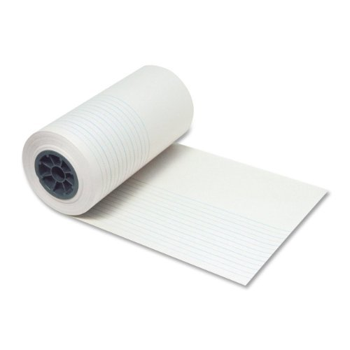 Pacon Corporation PAC2660 Ruled Newsprint Roll- .88in. Ruling- .44in.- 12in.x500ft.- White