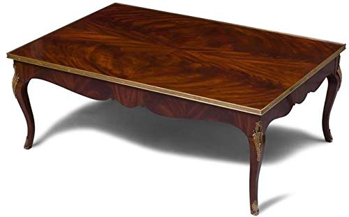 Regency House Living Room Furniture - Scarborough House Regency Cocktail Table Crotch Mahogany Brass Accents