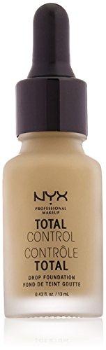 NYX PROFESSIONAL MAKEUP Total Control Drop Foundation, Caramel, 0.43 Fluid Ounce (Medium Caramel Finish)