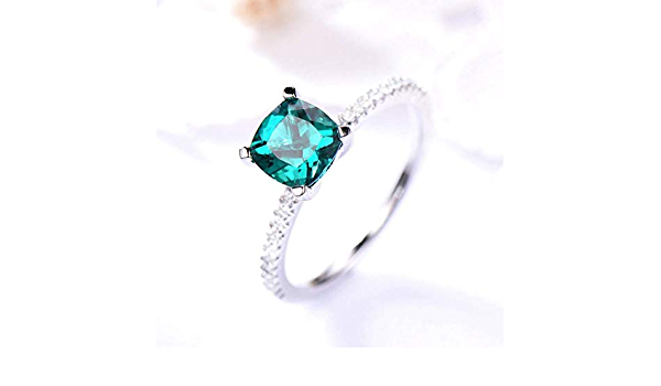 Natural Emerald Cushion 6x8 mm 1.20 Cts green-Loose Emerald Cushion shape Gemstone-Emerald Engagement Custom Ring-Green Emerald Cushion